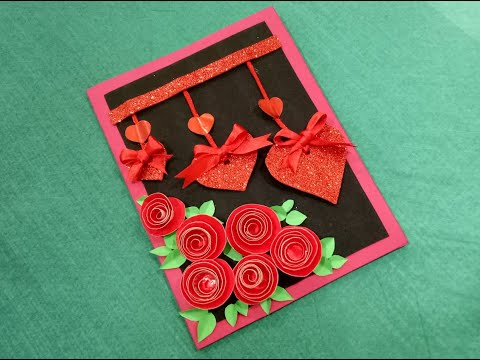 Valentines Day Card handmade / How to make beautiful greeting card for Valentine's Day