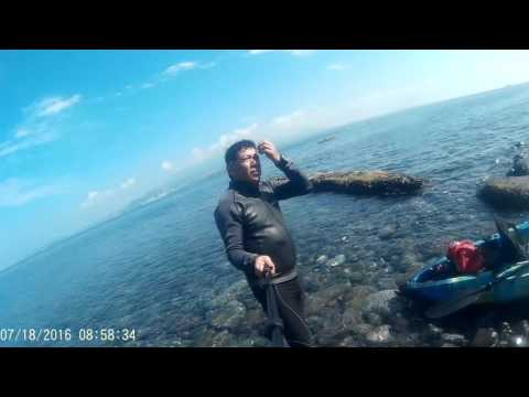 First Person to cross Corregidor Island Philippines  using Kayak only (2nd time)  Part 2