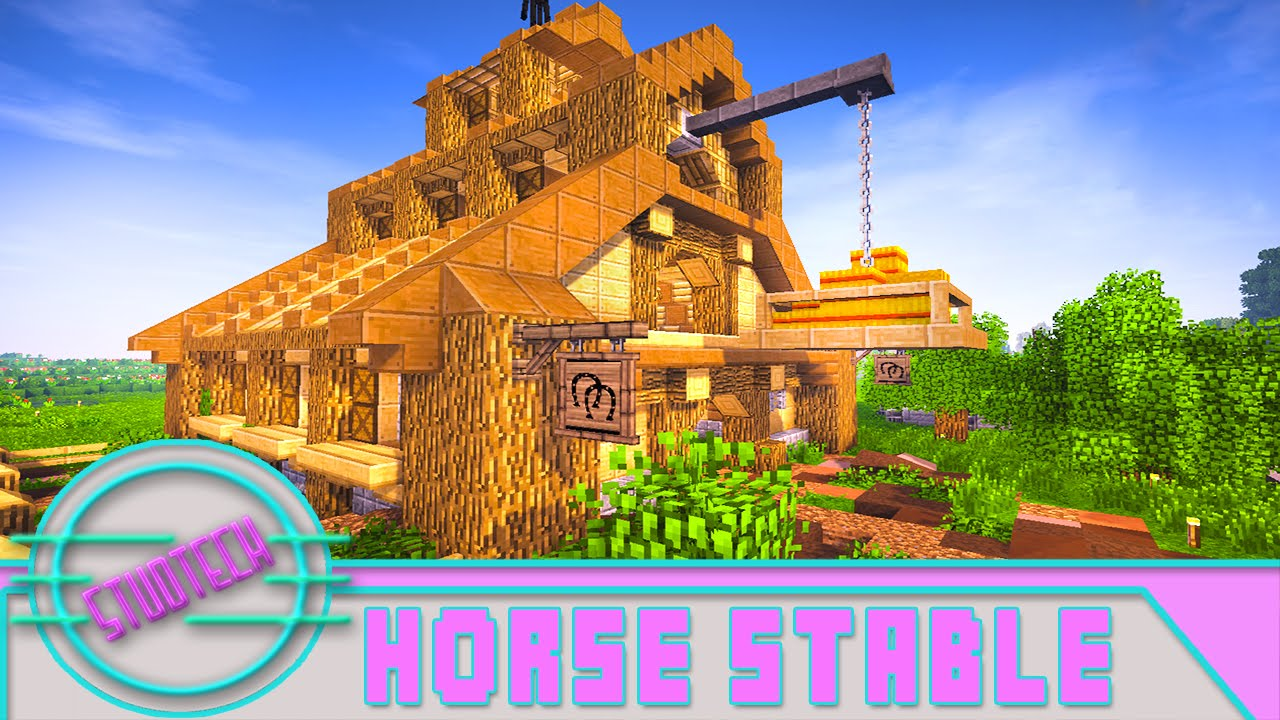 Modded Minecraft How To Make An Awesome Horse Stable Studtech Ep