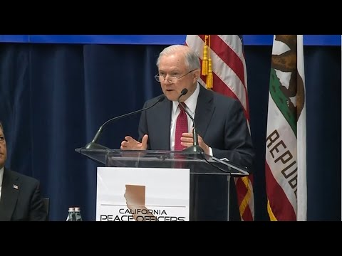 Raw Video: AG Sessions Speaks In Sacramento Amid Sanctuary Lawsuit