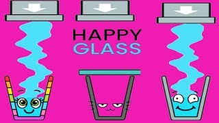 Happy Glass - Gameplay Walkthrough Part 2 Level 42 - 69 - DRAW A LINE TO FILL THE GLASS