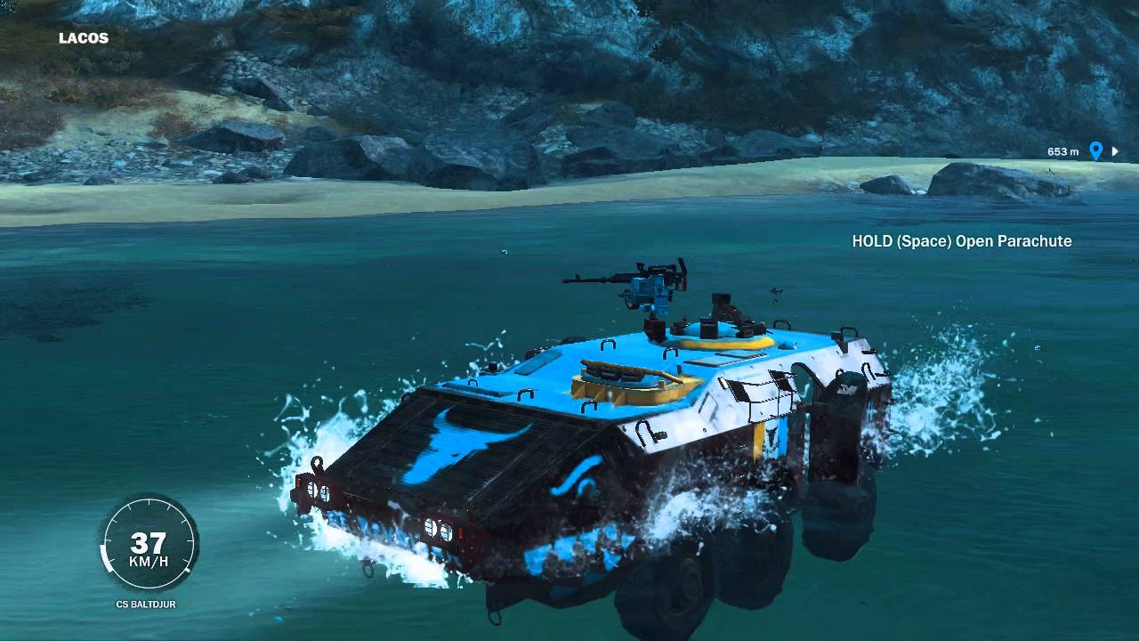 Just Cause 3 Tank Boat - YouTube