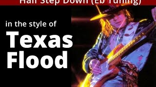 Download STEVIE RAY VAUGHAN 'Texas Flood' - Eb Tuning in G Major - SAD Blues GUITAR Solo BACKING TRACK MP3 song and Music Video