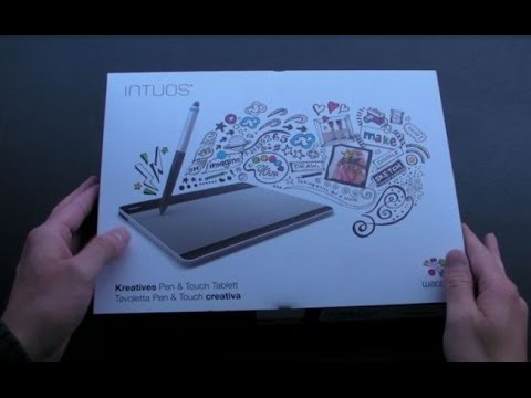 Wacom Intuos Small Creative Pen Touch Tablet Unboxing Youtube
