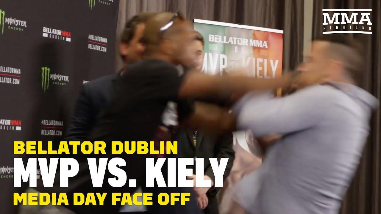Bellator Dublin: MVP Shoves Richard Kiely in Staredown - MMA Fighting