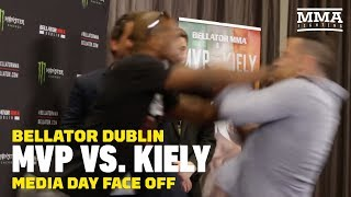 Bellator Dublin: MVP Shoves Richard Kiely in Staredown - MMA Fighting