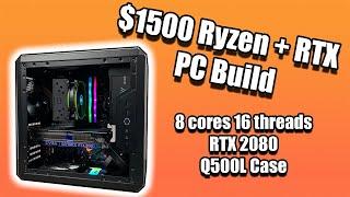 $1500 PC Build Ryzen 2700 + RTX 2080 - The Last 2nd Ryzen Build