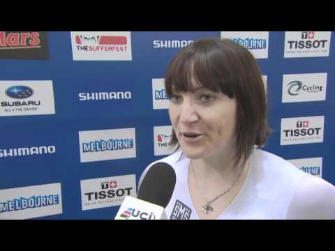 Winner interviews last day of competition @Track Cycling World Championships Melbourne