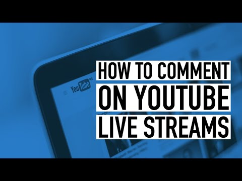 How to Comment on YouTube Live Stream Chats