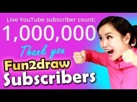 Youtube Art Channel Fun2draw - 1 MILLION SUBSCRIBER