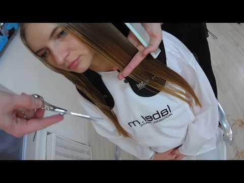 Женские стрижки на длинные волосы видео уроки