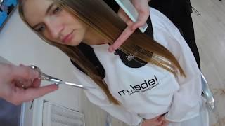 Каскад, стрижка на длинные волосы со слоями, урок для парикмахера