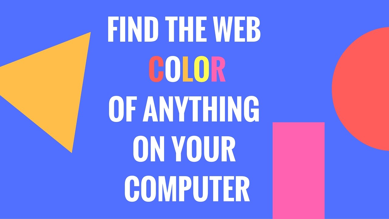 photo about Printable Color Code Personality Test referred to as Identify the HTML hex coloration code of anything at all upon your computer system!