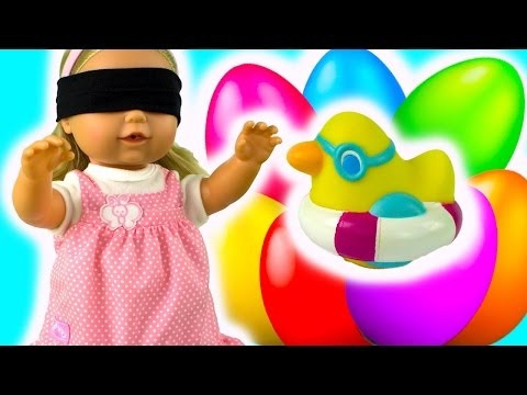 Куклы пупсики МАША и КИНДЕР СЮРПРИЗ развивающие видео игры игрушки для детей на русском