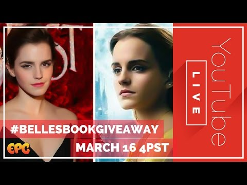 🔴 Live Beauty & The Beast 2017 Emma Watson Giveaway | Autographed Disneyland Belle Book
