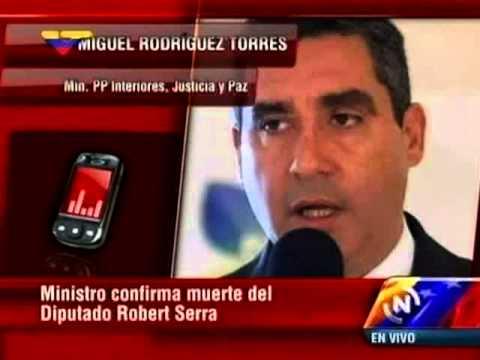 Rodríguez Torres anuncia asesinato de Robert Serra