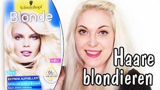 Haare hellblond blondieren | Gelbstich effektiv entfernen mit Drogerie Produkten