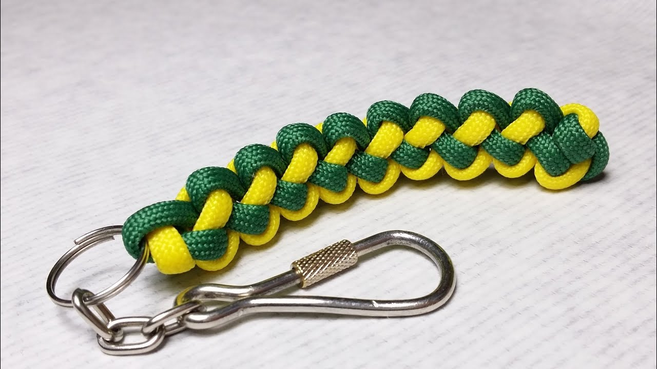 How to make butterfly stitch keychain scoobie youtube for How to make a keychain out of paracord