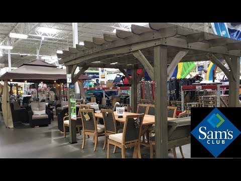 SAM'S CLUB OUTDOOR PATIO FURNITURE HOME DECOR SUMMER SHOP WITH ME SHOPPING STORE WALK THROUGH 4K
