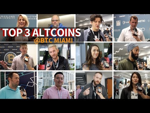 Top 3 Altcoins  @ The Bitcoin Miami Conference ft. Justin Wu, CryptoShillNye & More