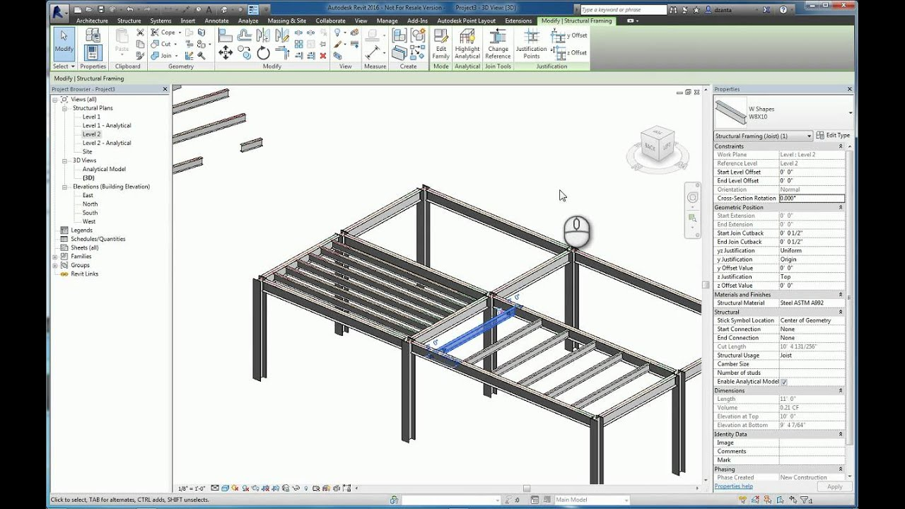 Architecture Floor Plan Software Free Revit Beam System And Brace Command Youtube