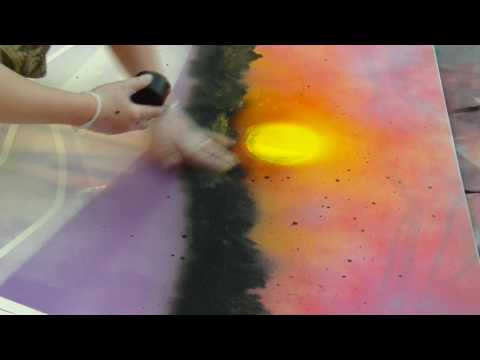 Landscape painting in 25 minutes
