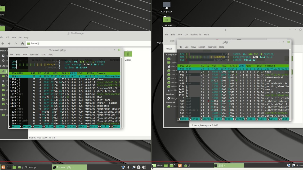 Linux Mint 19 XFCE vs Linux Mint 19 MATE