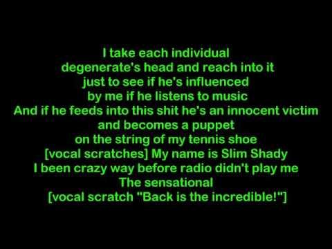 Eminem - Im Back Lyrics