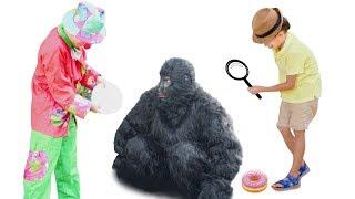 Кто Съел Пончики - Стефан | Горилла или Клоун? Новое Расследование | Самое Смешное Видео Стефана :)