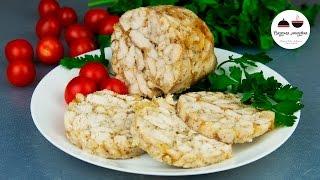 ДОМАШНЯЯ КОЛБАСА  Рулет из куриной грудки  Homemade Chicken Sausage