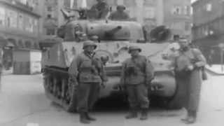 First US Troops into Linz, Austria Sherman Tanks Concentration Camp Survivor Interview