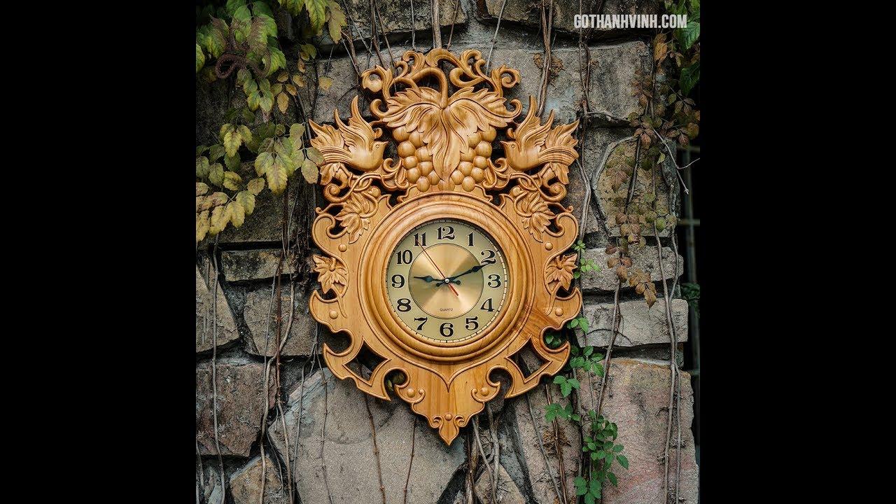 Bộ sưu tập Đồng hồ gỗ treo tường sang trọng – tinh tế