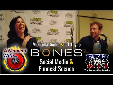 A Moment With Bones: T. J. Thyne and Michaela Conlin  Funnest s