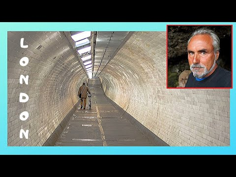 Crossing under historic River Thames, the Greenwich Tunnel, LONDON
