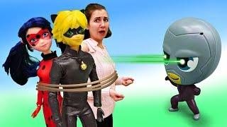 Леди Баг и Супер Кот в опасности Барби с Бражником - Мультик для девочек. Я не хочу в школу 20