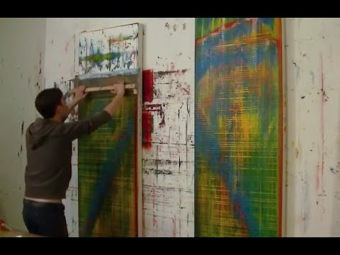 Painting a Pair of Abstract Oil Paintings - Nicky Henderson