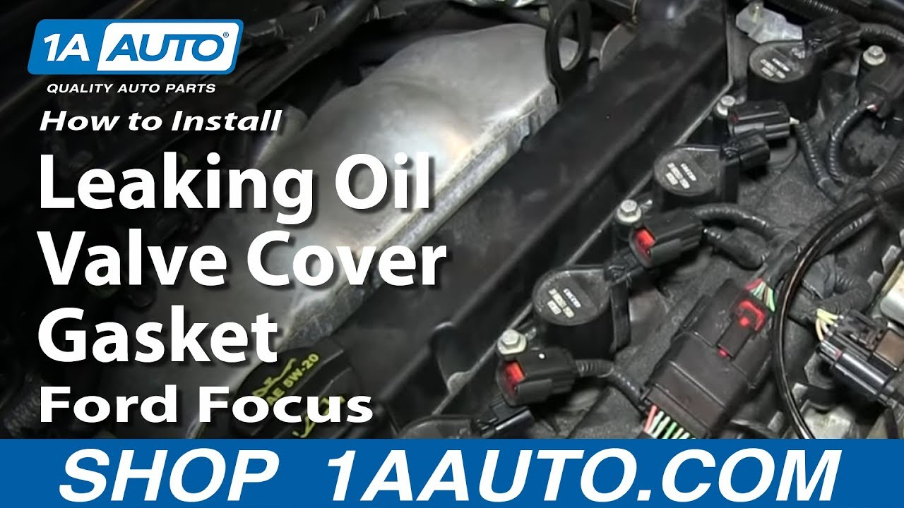 how to install replace fix leaking oil valve cover gasket ford focus [ 1280 x 720 Pixel ]