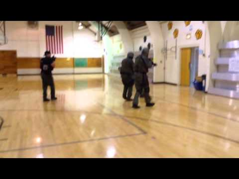 Illinois Valley Special Response Team drill at Putnam County Elementary School