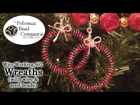 Make Wire & Seed Bead Wreaths