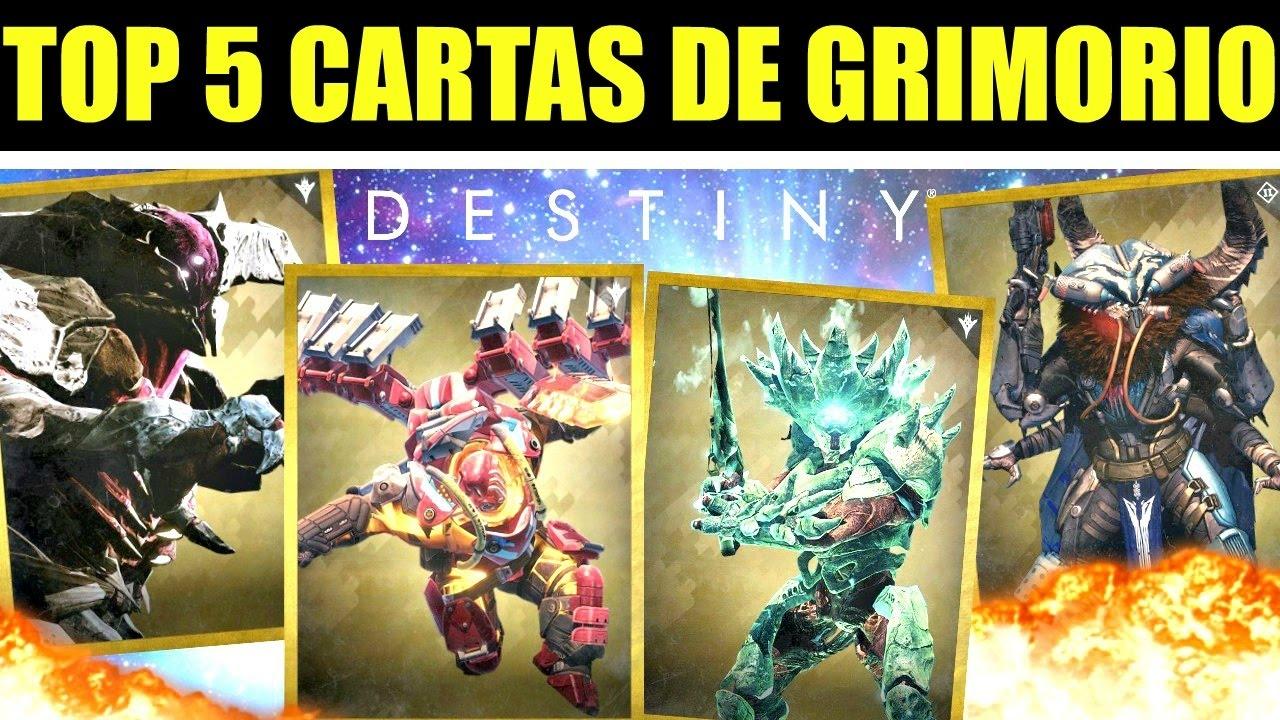 Destiny - LAS 5 CARTAS DE GRIMORIO MAS ATERRADORAS   Historia & Lore ...