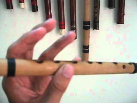 Cách cầm sáo  _ cận cảnh - sáo trúc cơ bản
