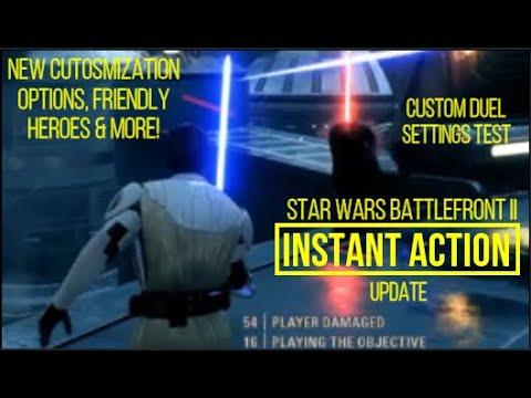 Download Star Wars Battlefront II Instant Action Gameplay (COSTOM SETTINGS Offline Heroes Vs Villans & More)