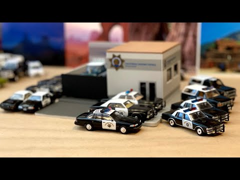 First Look | 1/64 CHP Central Command Hot Pursuit Greenlight Collectibles Diorama #Diecast