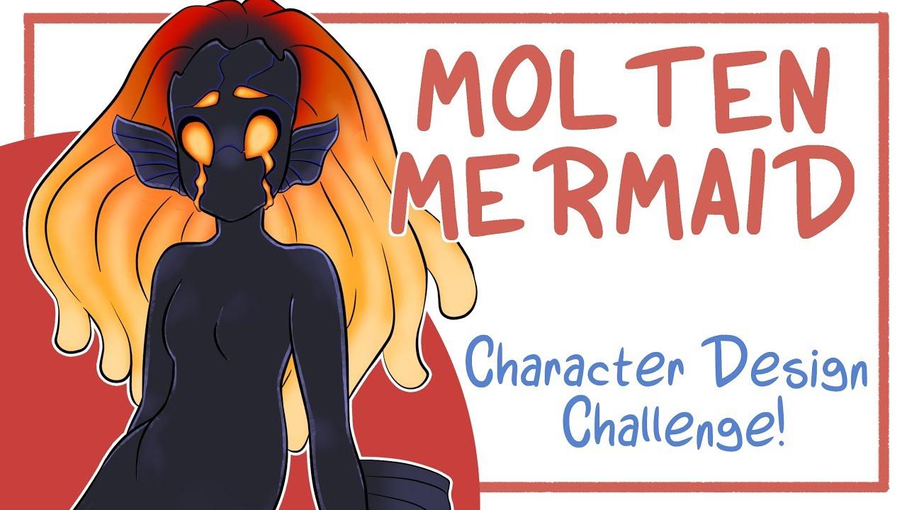 MOLTEN MERMAID - Character Design Challenge - Random Aesthetic Generator