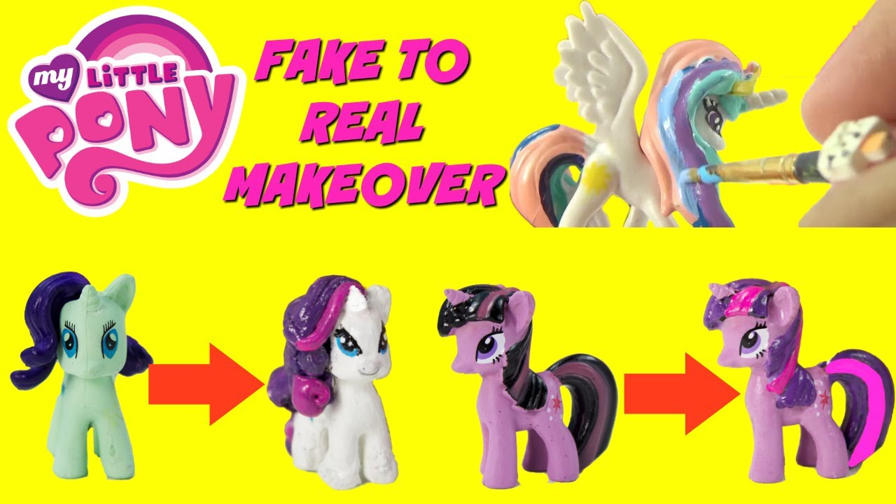 my little pony diy painting fake to real pony makeover rarity