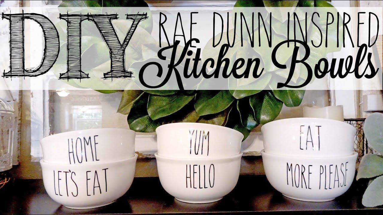 Diy Rae Dunn Inspired Bowls Dollar Tree Hack Youtube