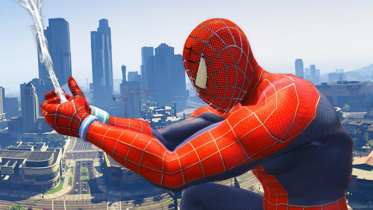 GTA 5 Spiderman Mod - Người Nhện náo loạn trong game GTA 5