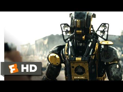 Elysium (2013) - Bot Combat Scene (3/10) | Movieclips
