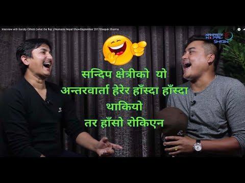 Interview with Sandip Chhetri (what the flop )/Namaste Nepal Show September 2017 Deepak Sharma