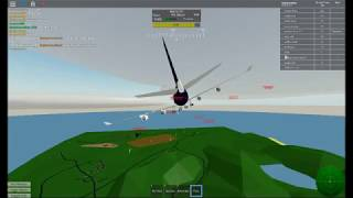 HOW TO LAND AN BOEING 747 in pilot training sim ROBLOX